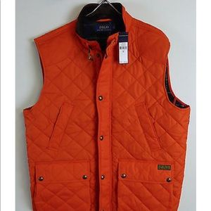 Polo Ralph Lauren Quilted Hunting Vest Cord Collat